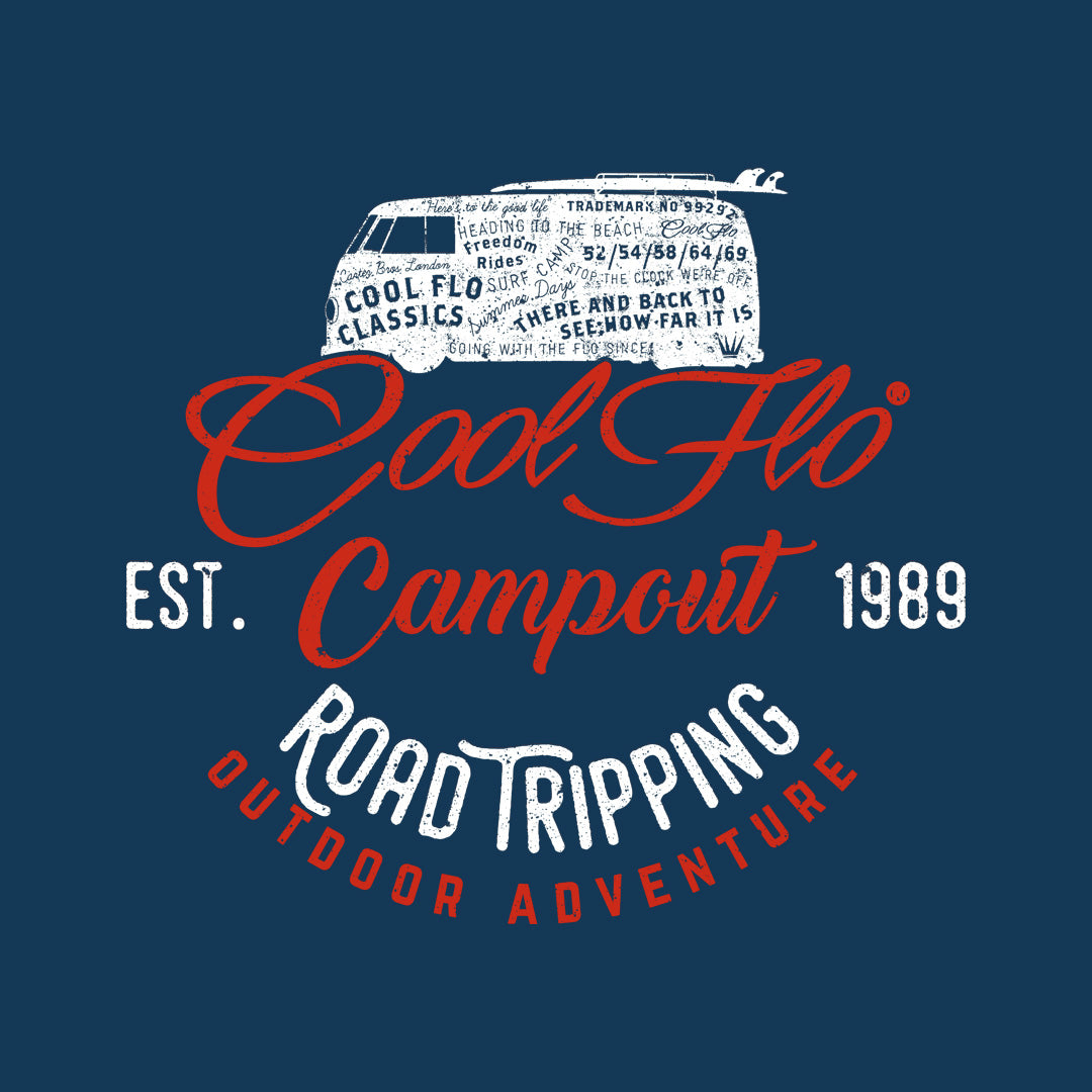 Campout Navy Long-Sleeve T-shirt - Cool Flo