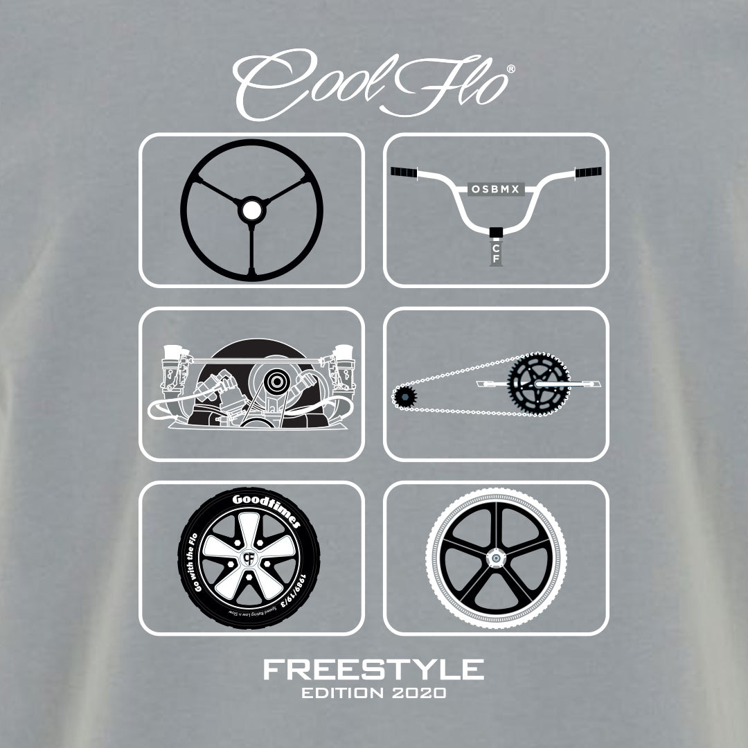 Freestyle Grey T-shirt - Cool Flo