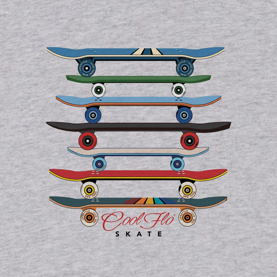 Skate Grey Long-Sleeve T-shirt - Cool Flo