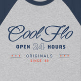 Open 24 Hours Baseball Tee - Cool Flo
