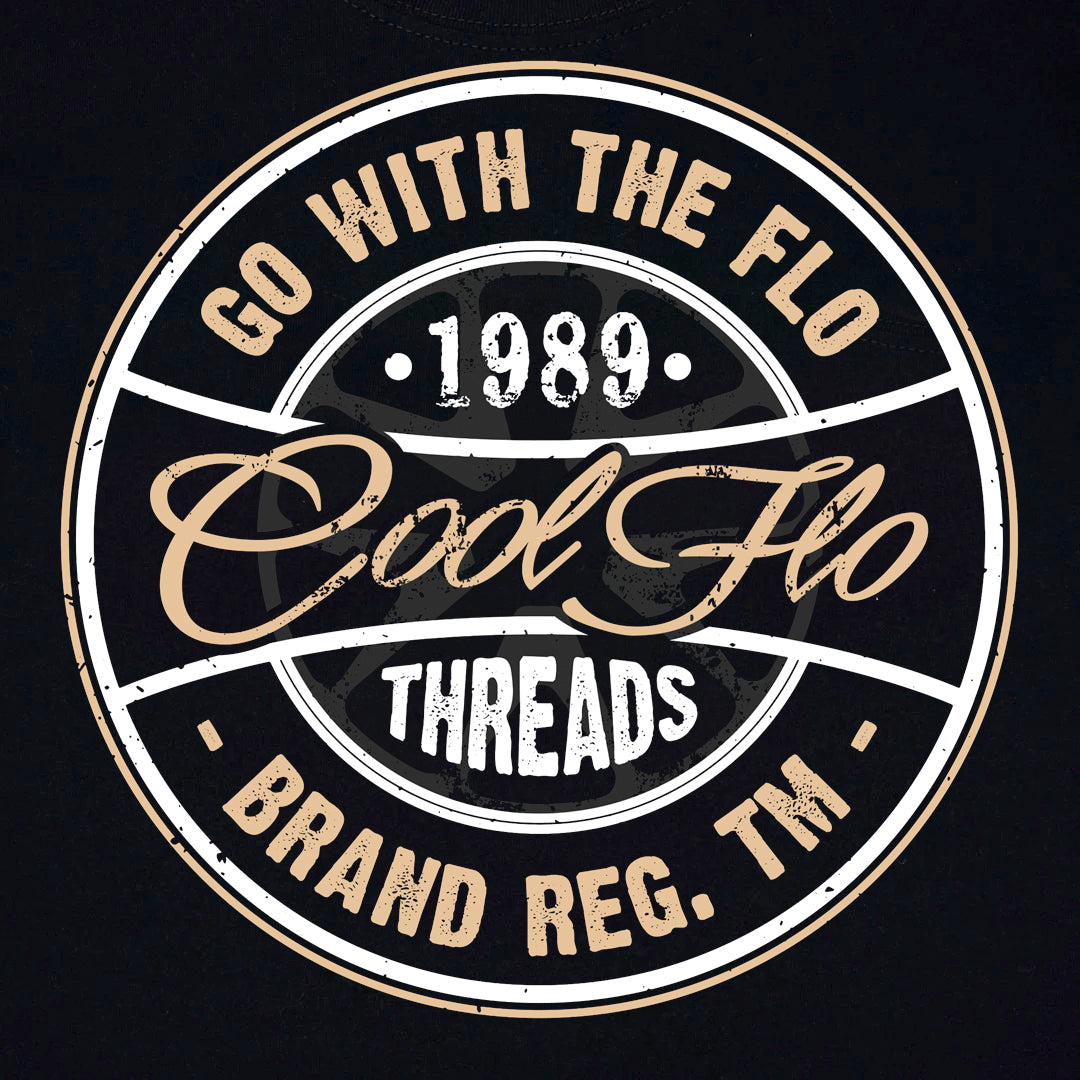 Go With The Flo Black T-shirt - Cool Flo