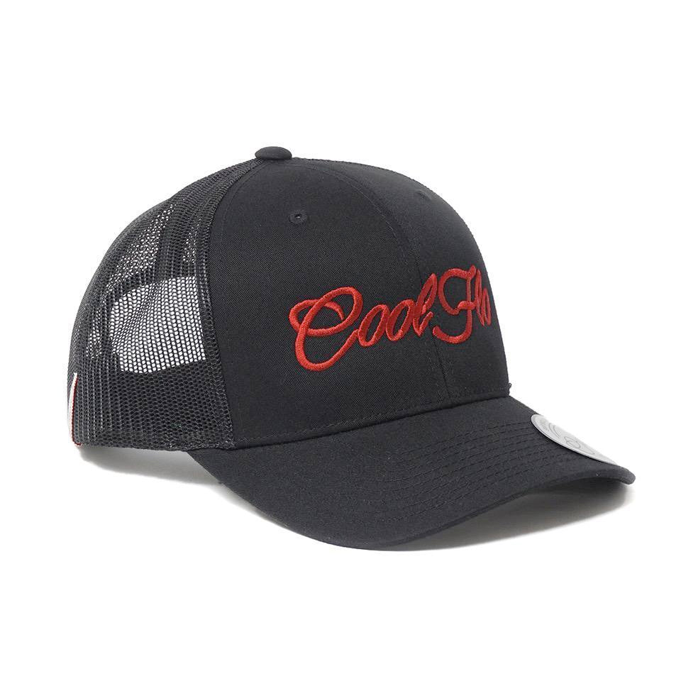 Red Script Trucker Cap - Cool Flo