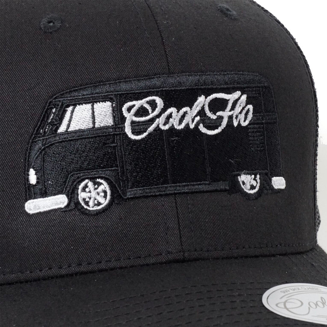 Cool Flo Bus Black Trucker Cap - Cool Flo