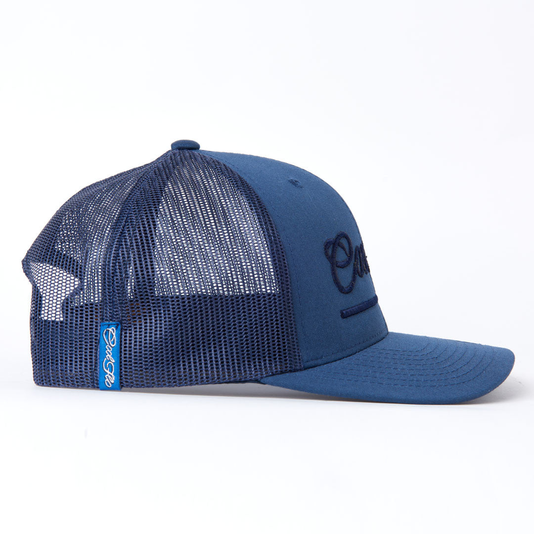 3D Script Treading Waves Cap - Cool Flo