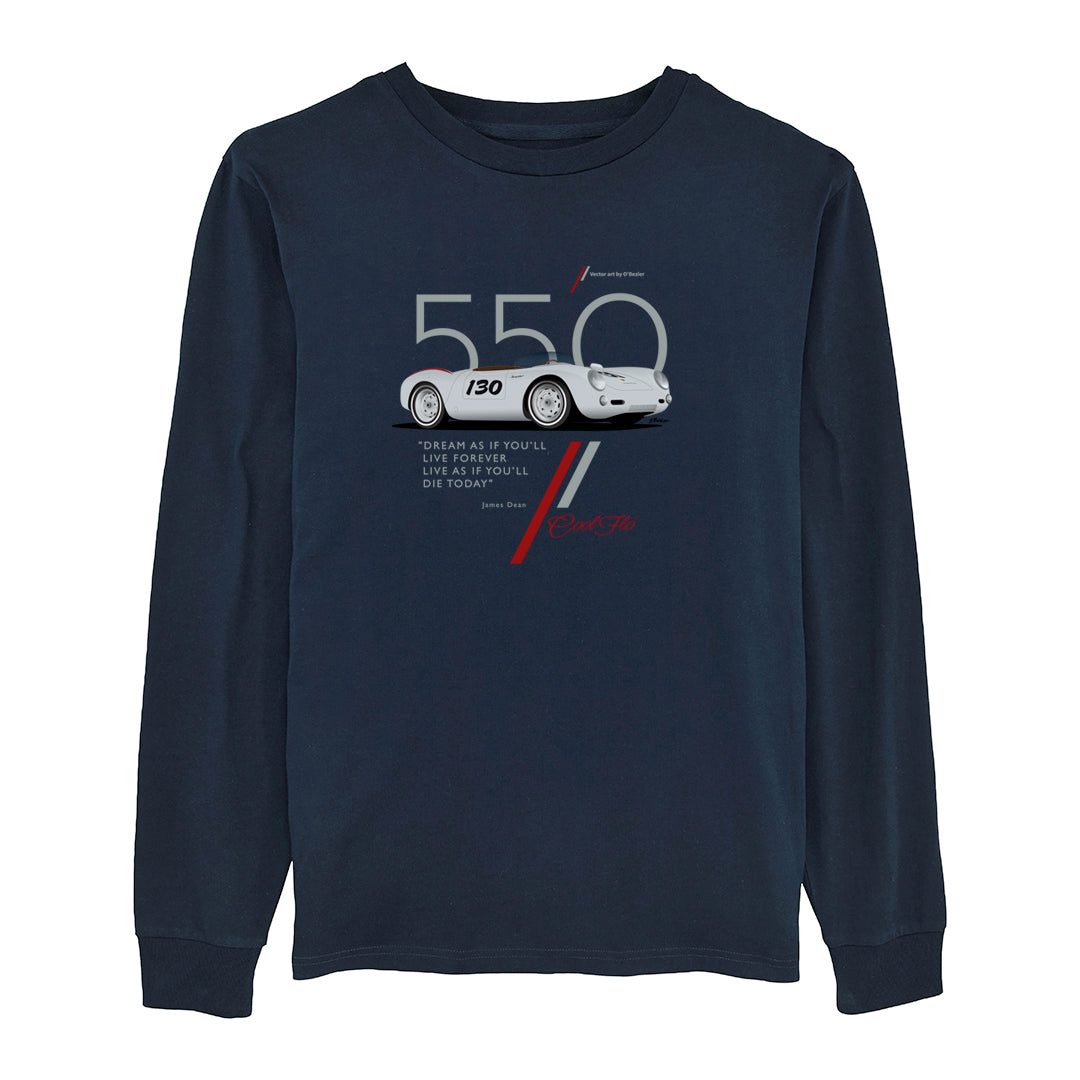 Cool Flo 550 Navy long-sleeve tee - front