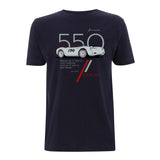550 Navy blue t-shirt main pic- Cool Flo