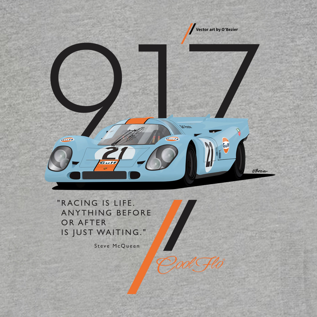 Cool Flo Porsche 917 Grey Hoody - close-up