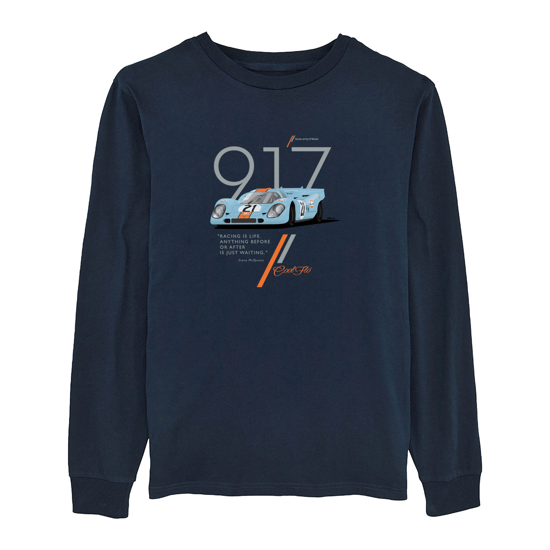 Cool Flo Porsche 917 Navy long-sleeve t-shirt - front