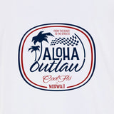 Aloha Outlaw White T-shirt close-up - Cool Flo