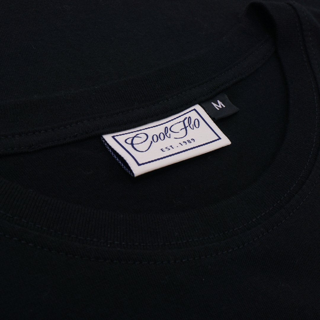 Skull & Pistons Black tee neck label