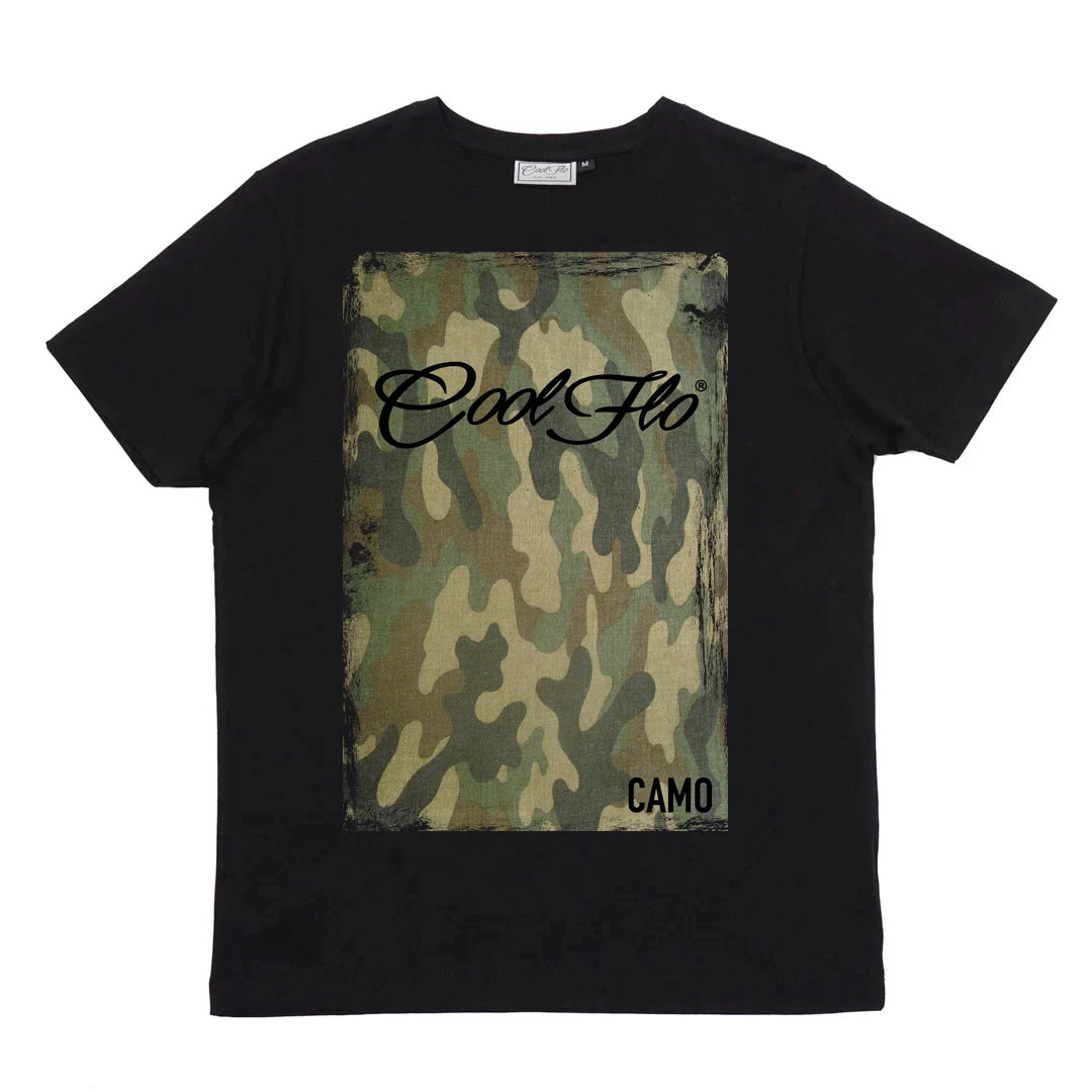 Cool Flo Camo t-shirt in black