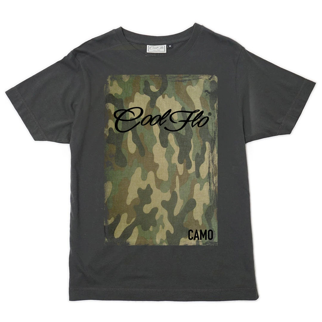 Cool Flo Camo t-shirt in charcoal grey