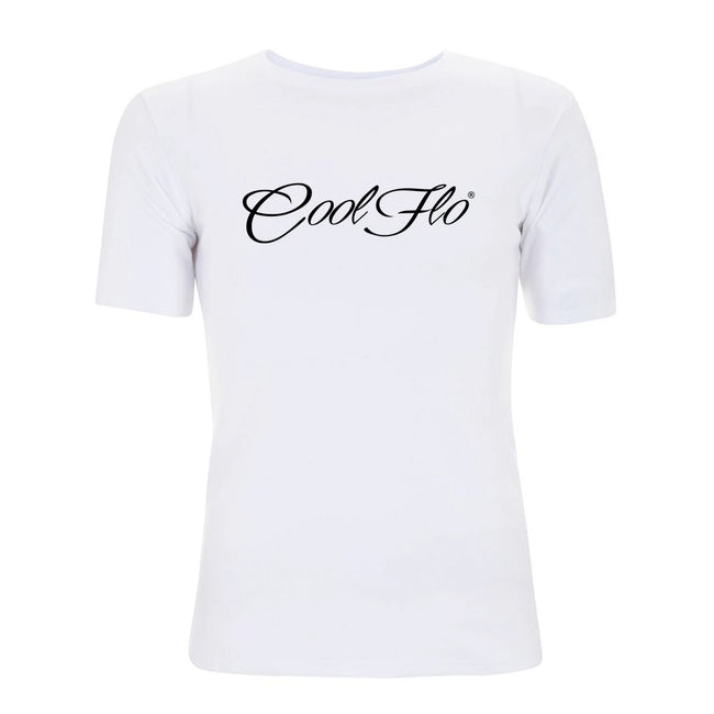 Cool Flo Classic Script T-shirt in white