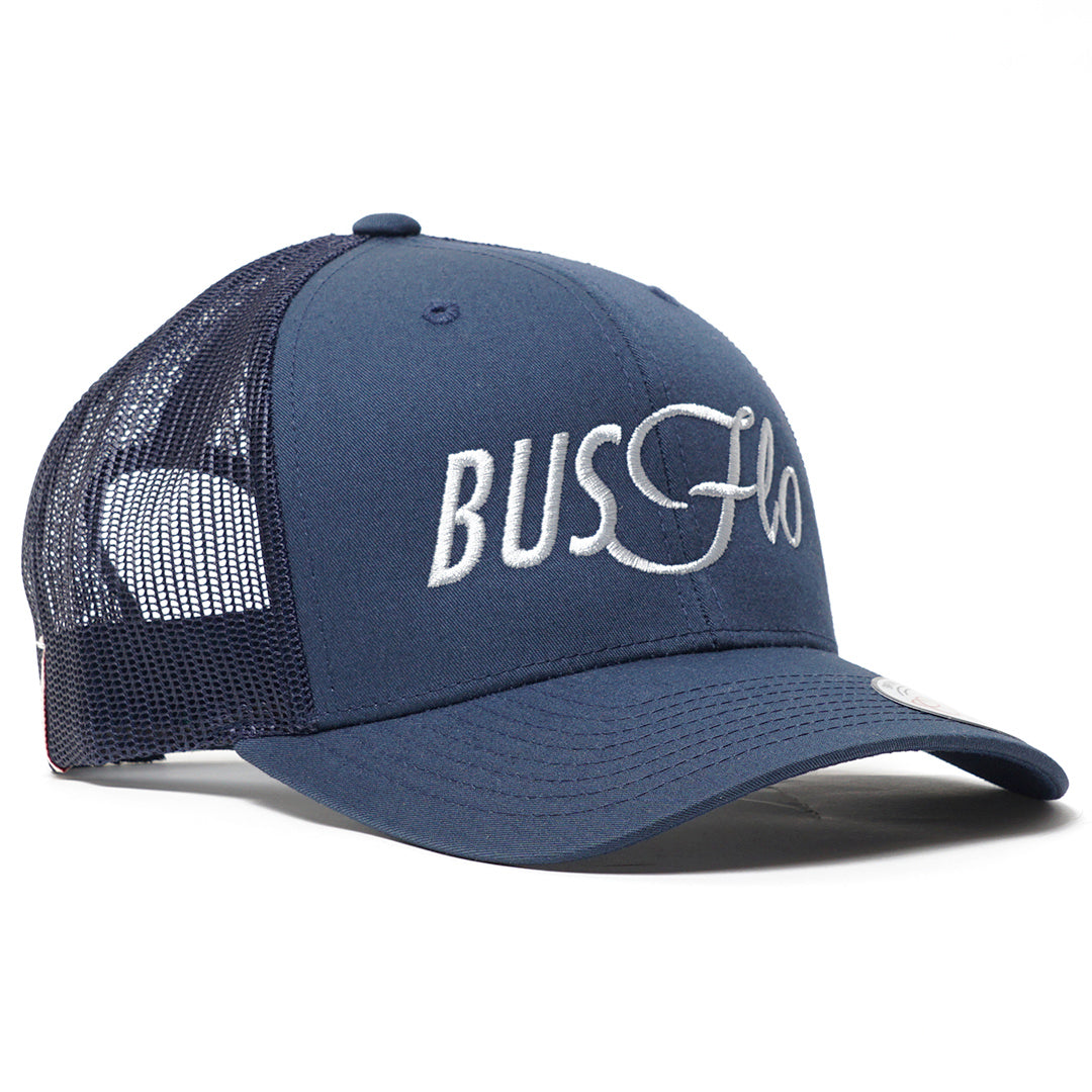 Bus Flo Navy Trucker Cap - Cool Flo
