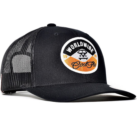 Global Flo DE Black Trucker Cap