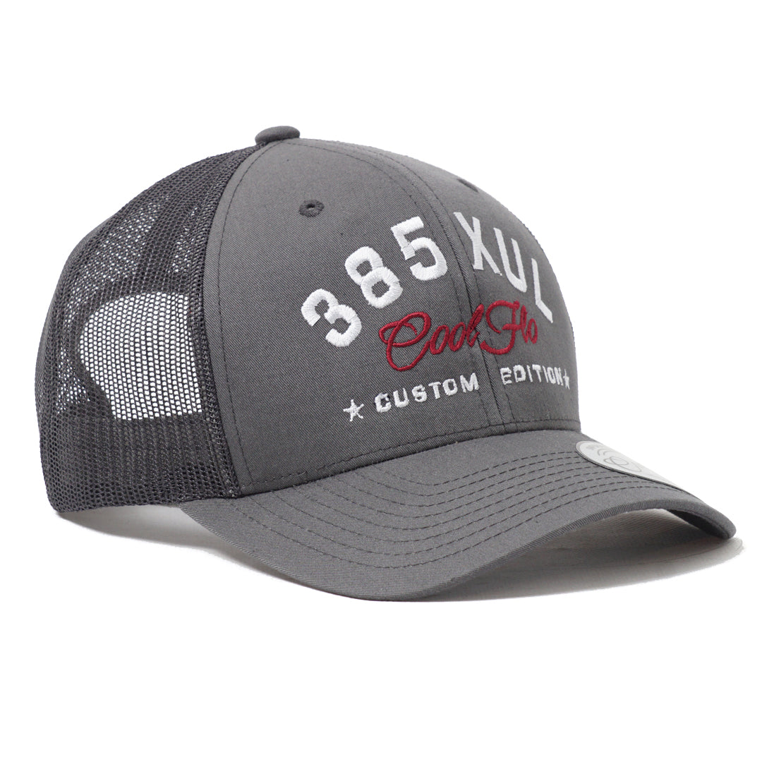 CUSTOM EDITION Reg. Trucker Cap in grey - Cool Flo