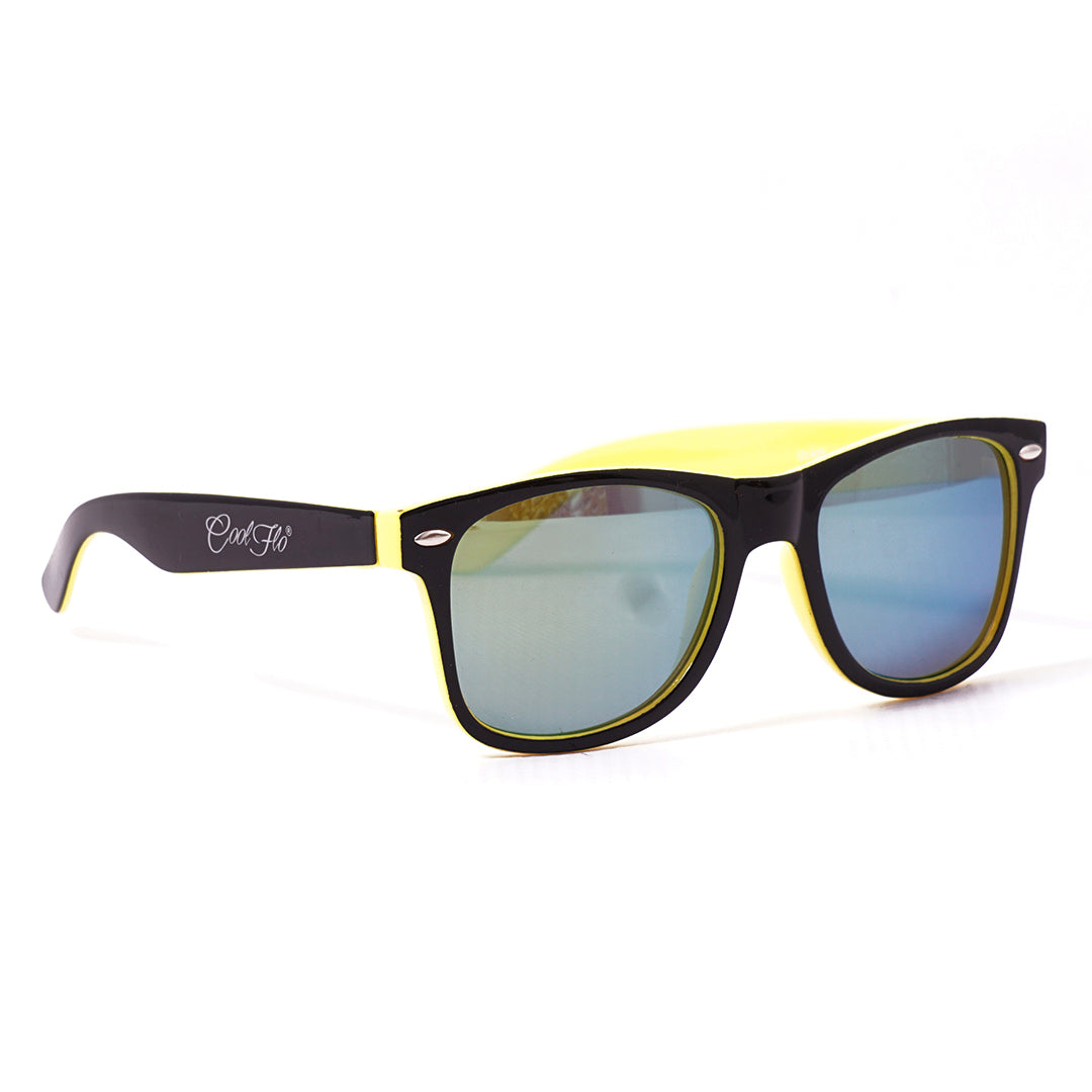 Sunglasses Black and Yellow - Cool Flo