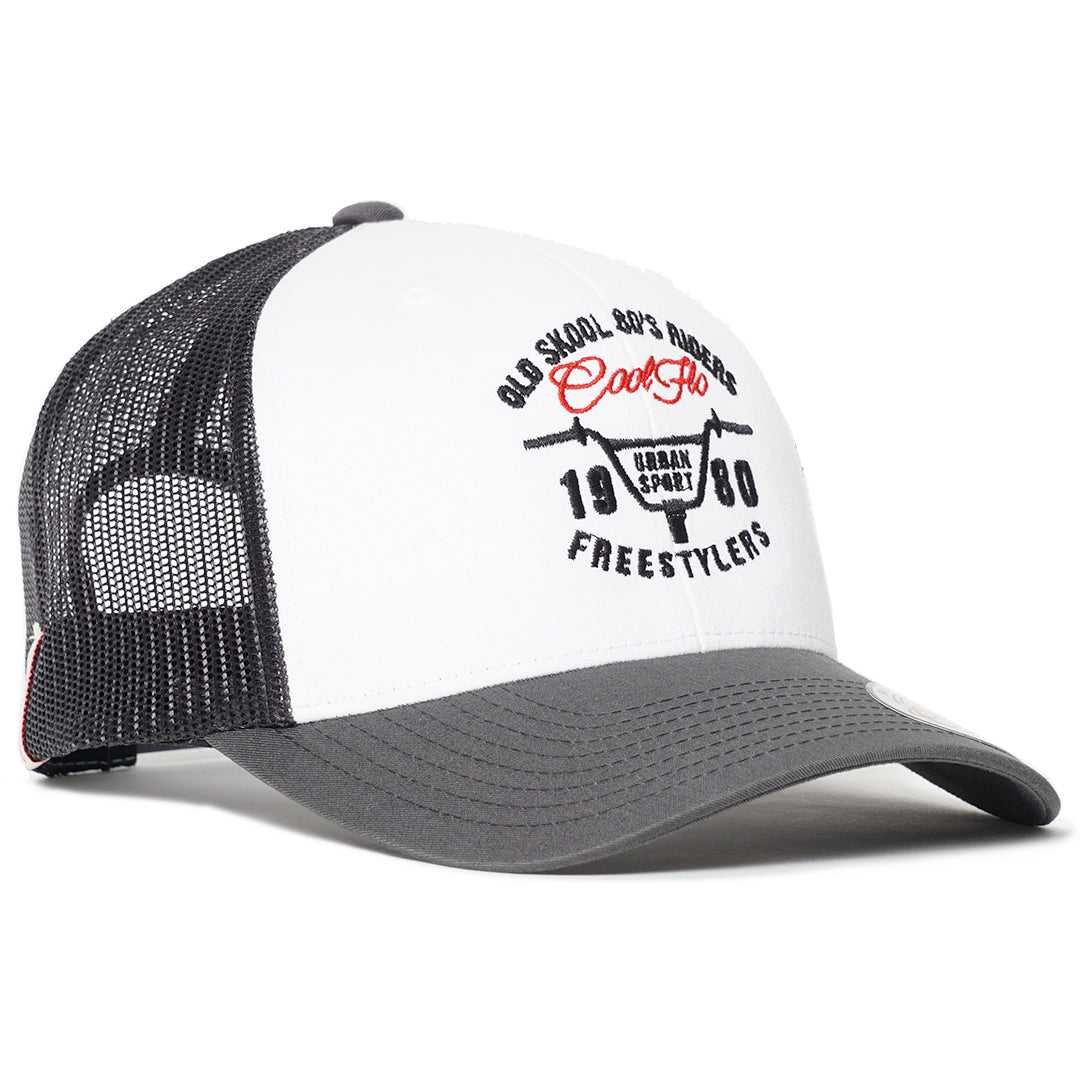 Grey and white Urban Sport Contrast Trucker Cap - Cool Flo