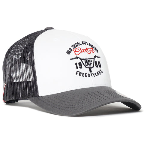 3D Script Black Treading Waves Trucker Cap