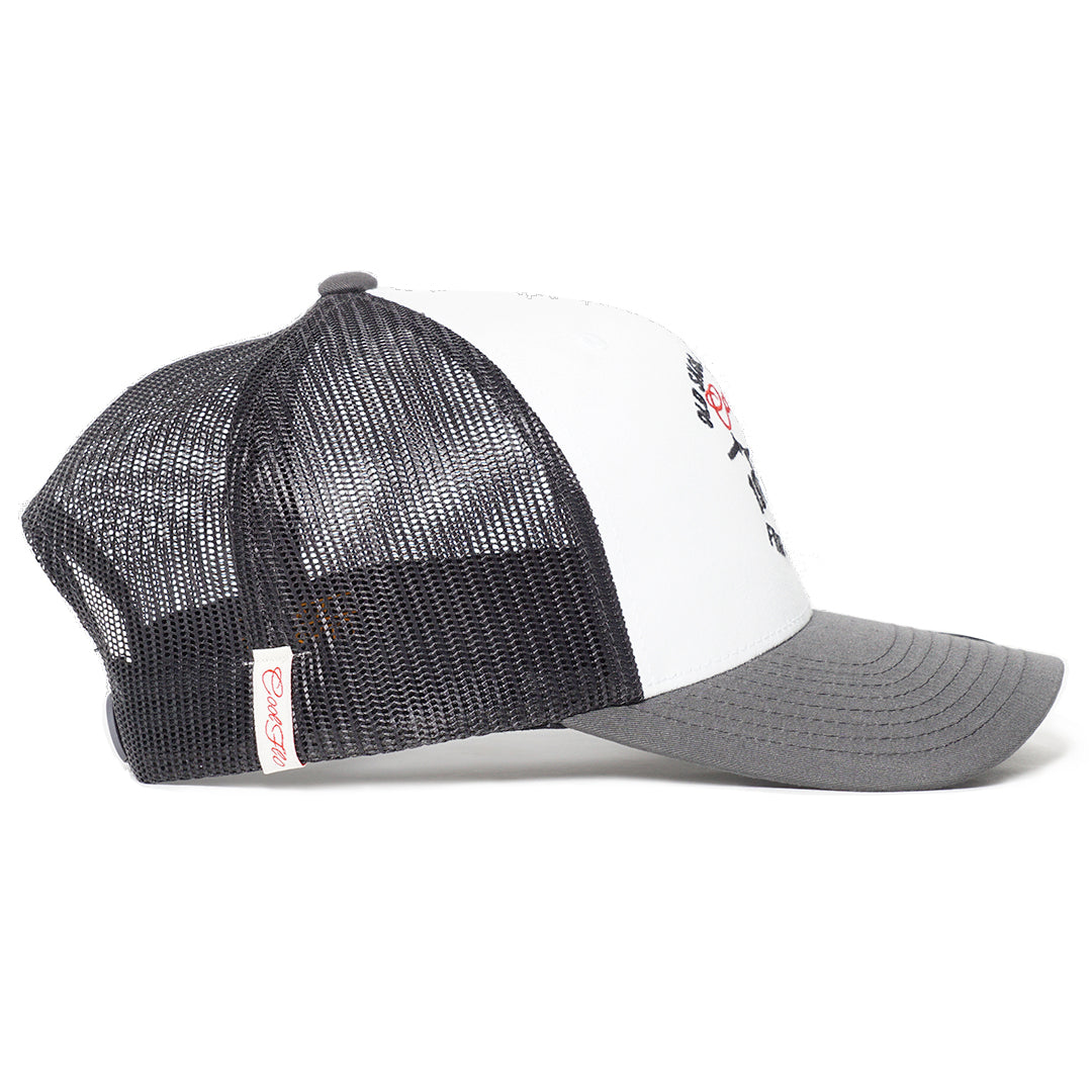 Side view of Urban Sport Contrast Trucker Cap  - Cool Flo