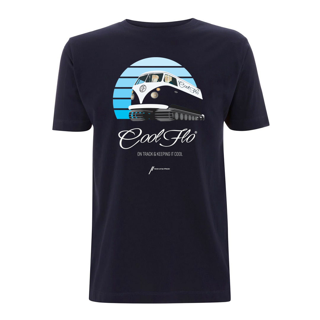 Flo Cat navy t-shirt main pic