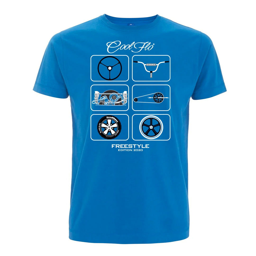 Cool Flo Freestyle T-shirt in Royal Blue
