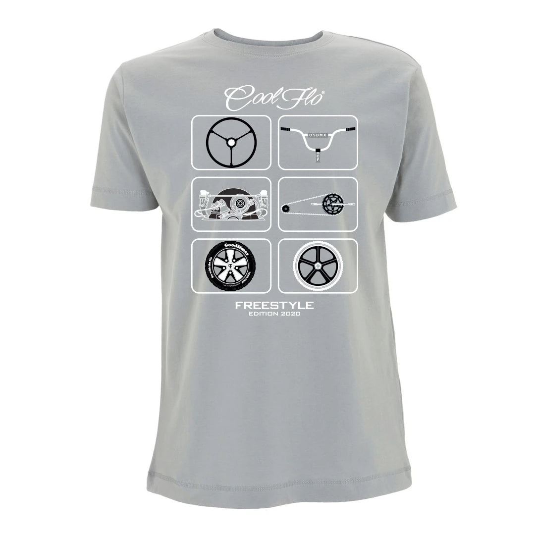 Cool Flo Freestyle T-shirt in Sport Grey