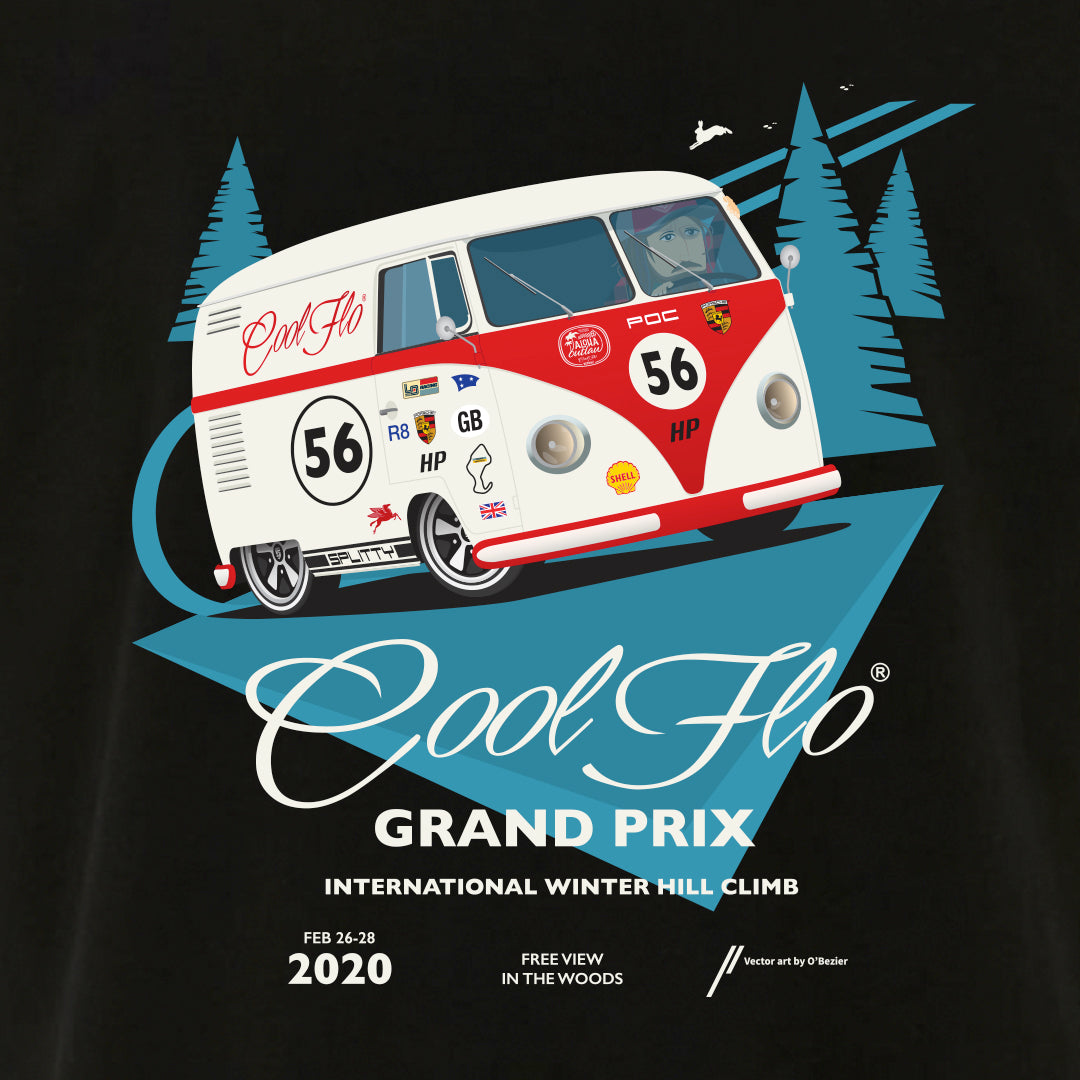 Grand Prix black t-shirt close-up