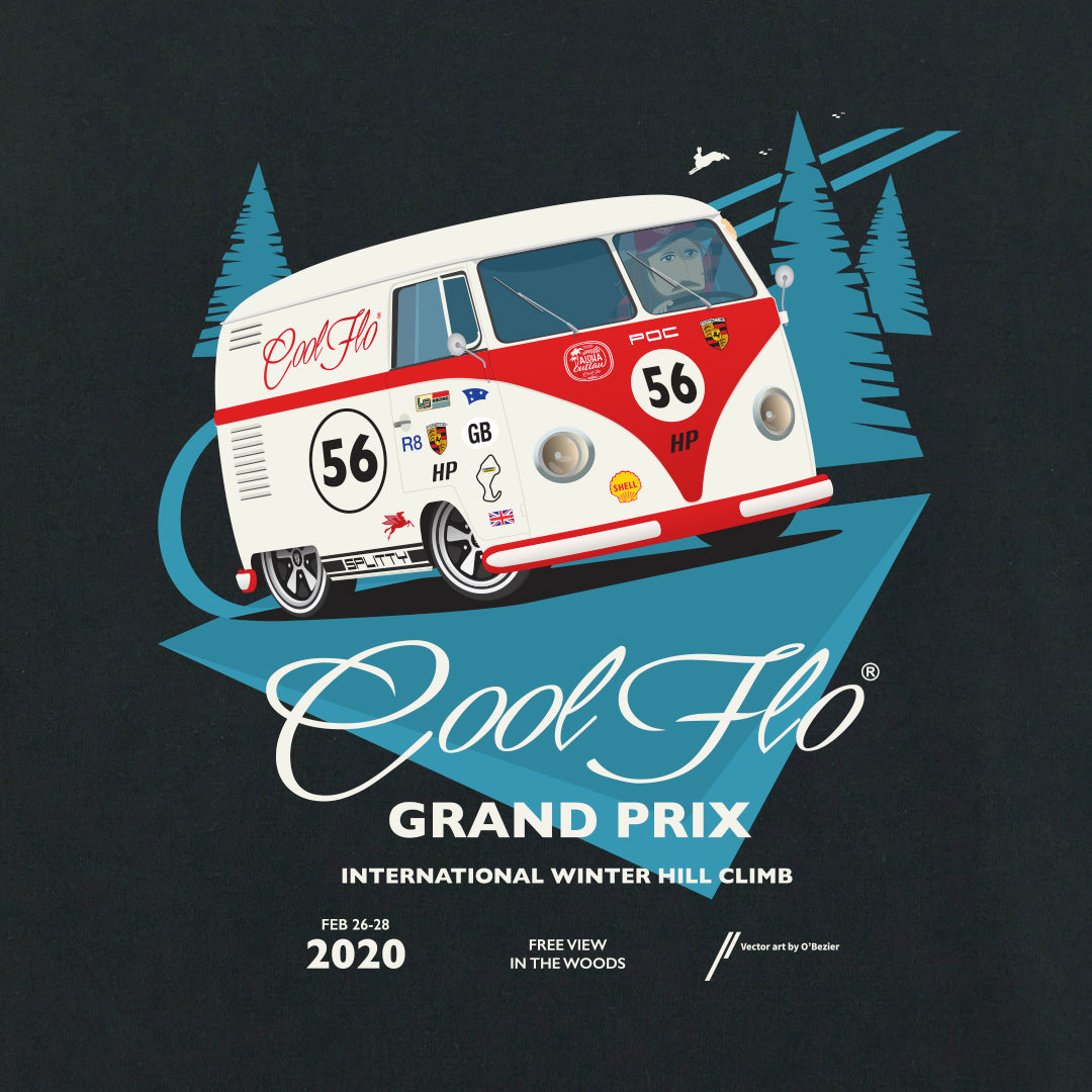 Grand Prix black long-sleeve t-shirt close-up