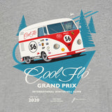 Grand Prix grey hoody close-up