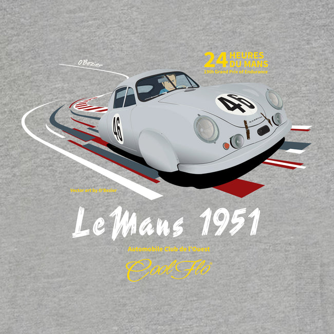 Cool Flo Le Mans Grey Hoody - close-up