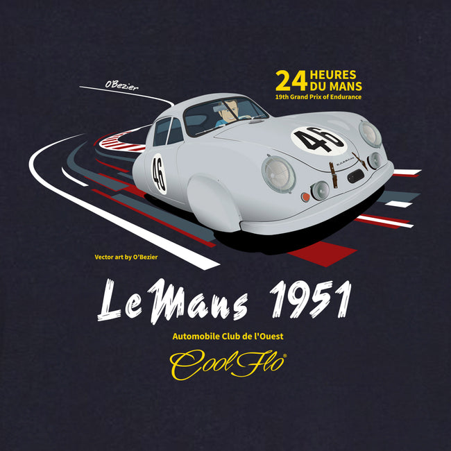 Cool Flo Le Mans Navy Hoody - close-up