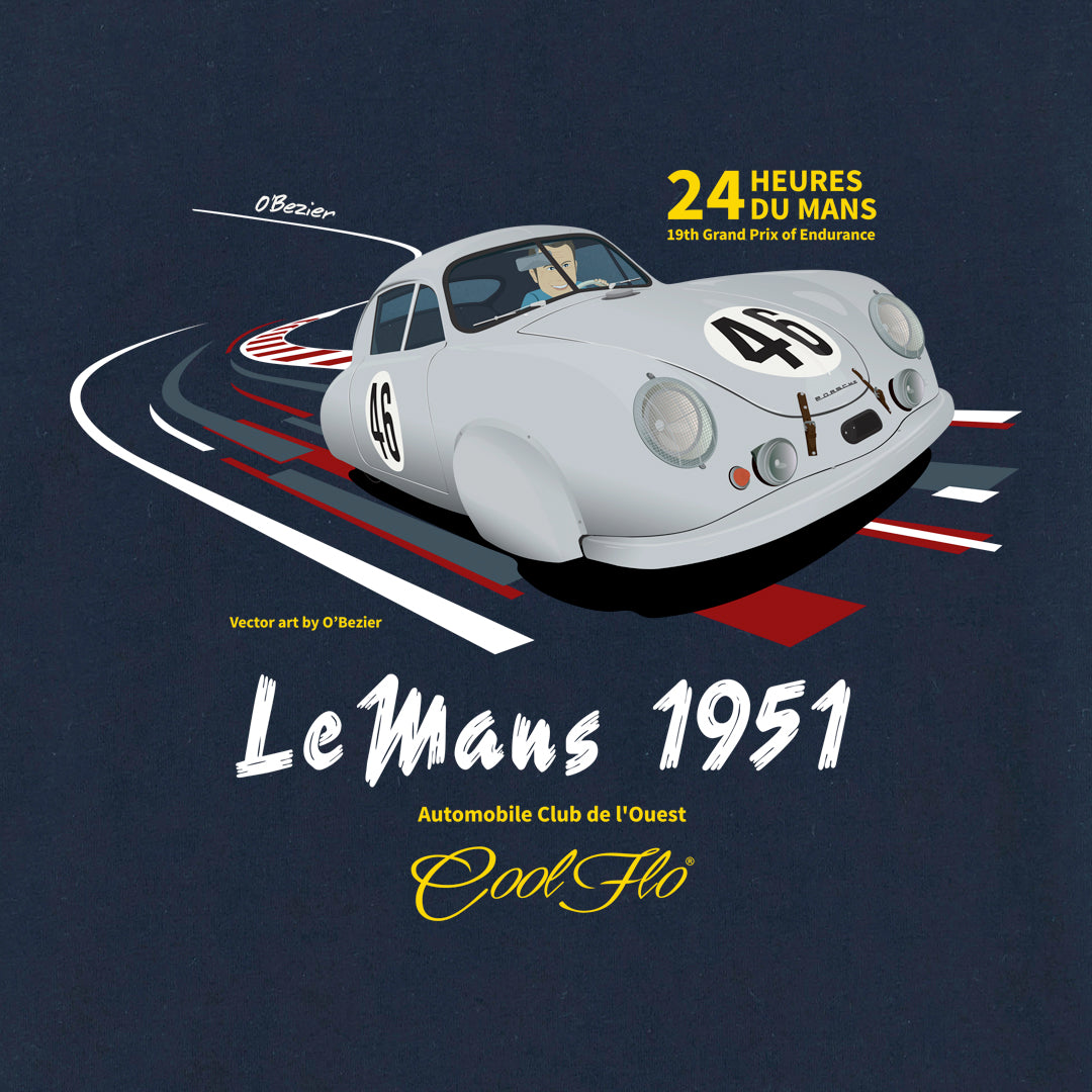 Cool Flo Le Mans Navy long-sleeve t-shirt - close-up