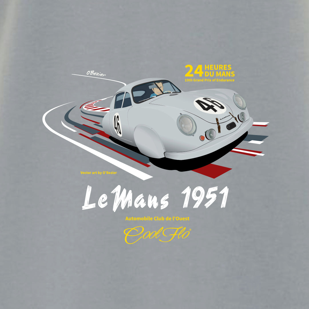 Le Mans Sport Grey t-shirt close-up - Cool Flo