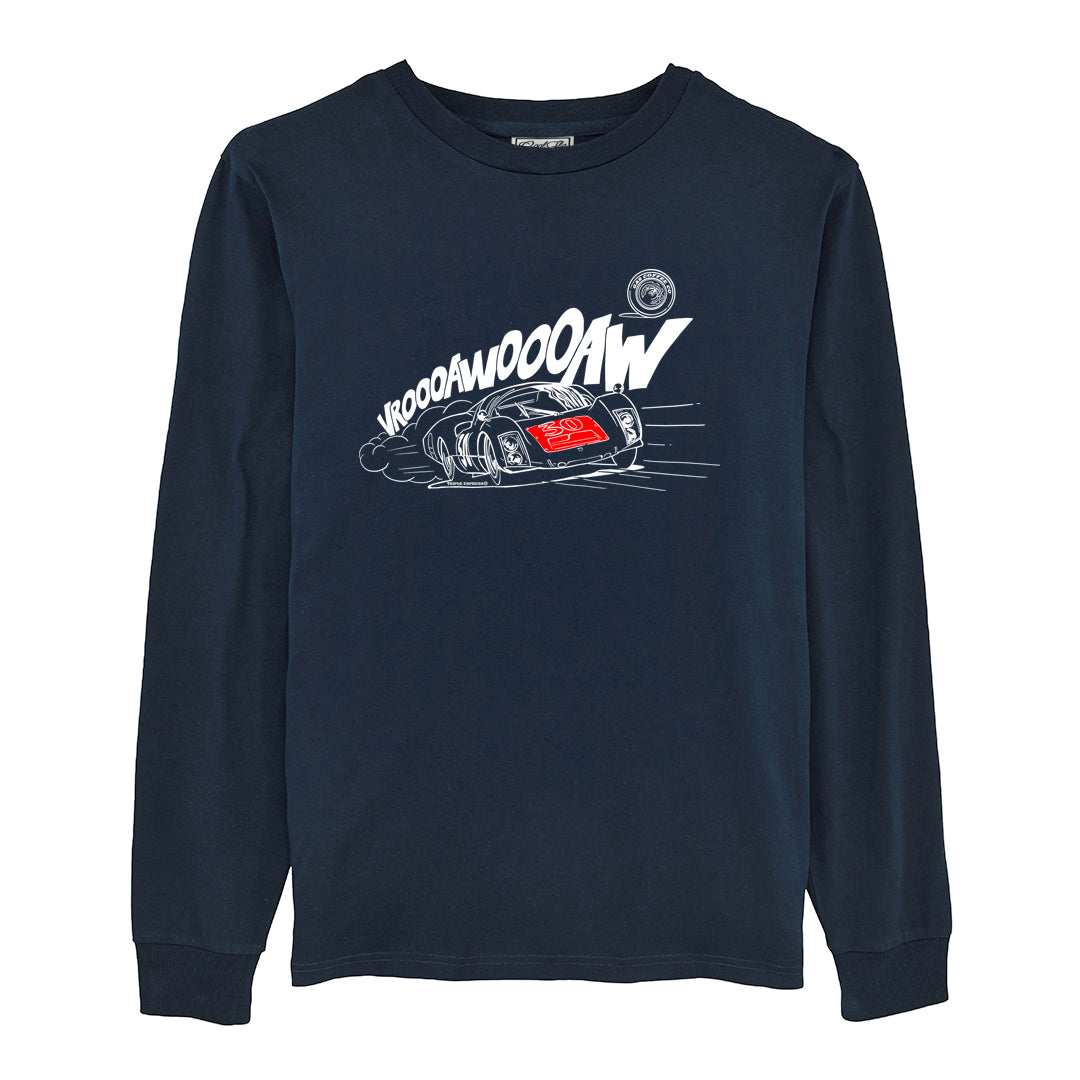 Gas Coffee - French Navy 906 long-sleeve tee