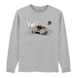 Gas Coffee - Heather Grey 935 long-sleeve tee