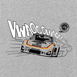 Gas Coffee - Heather Grey 935 long-sleeve tee - close-up