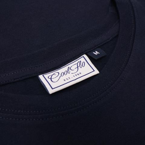 Original Navy T-shirt neck label - Cool Flo