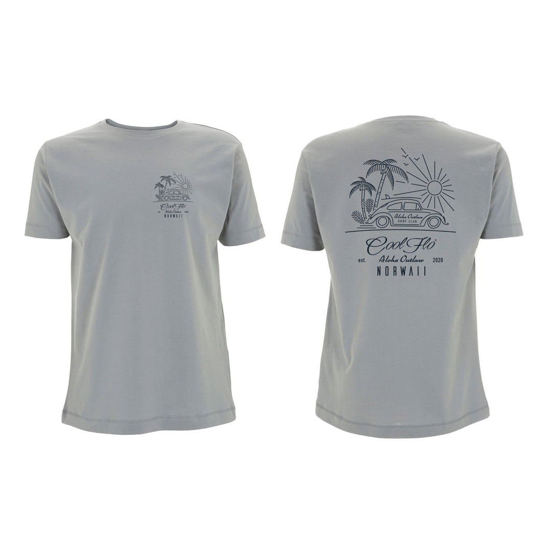 Outlaw Bug Sport Grey t-shirt front&back - Cool Flo