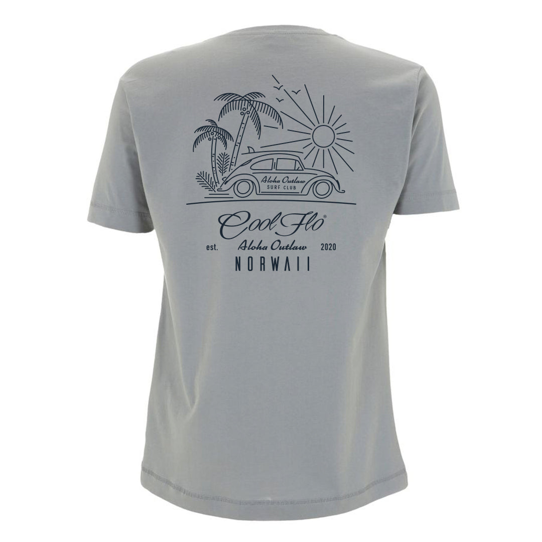 Outlaw Bug Sport Grey t-shirt back - Cool Flo