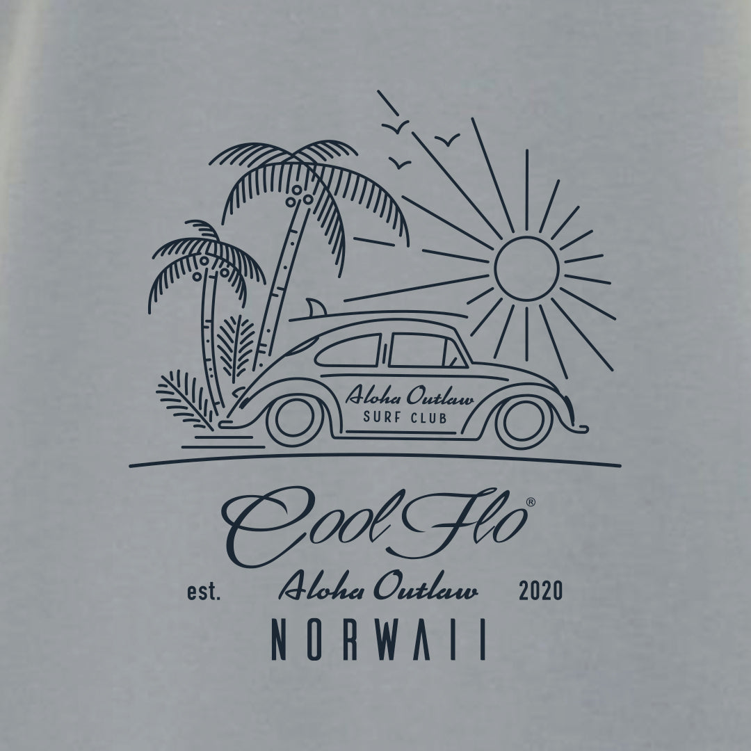 Outlaw Bug Sport Grey t-shirt close-up - Cool Flo