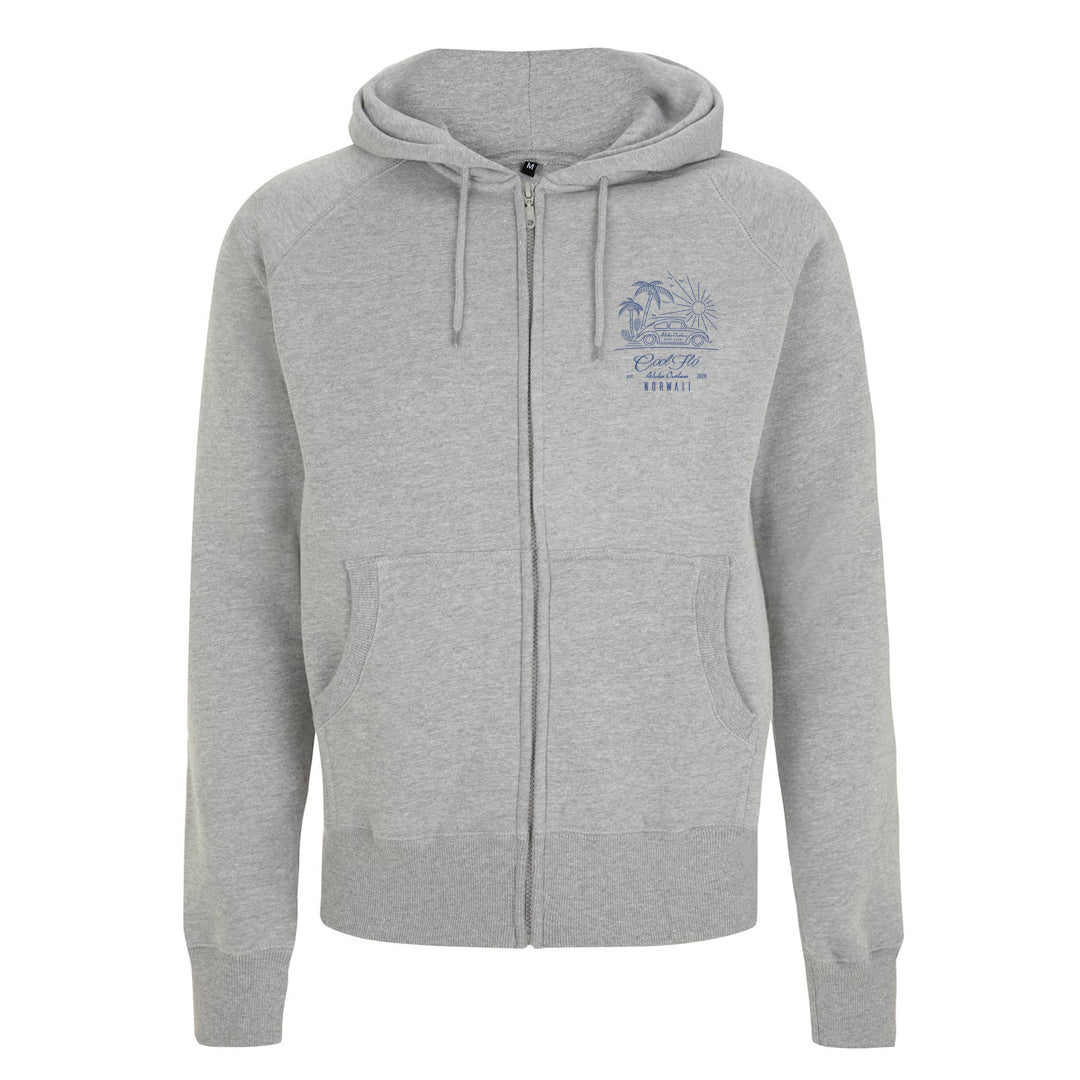 Outlaw Bug grey zip hoody - front - Cool Flo
