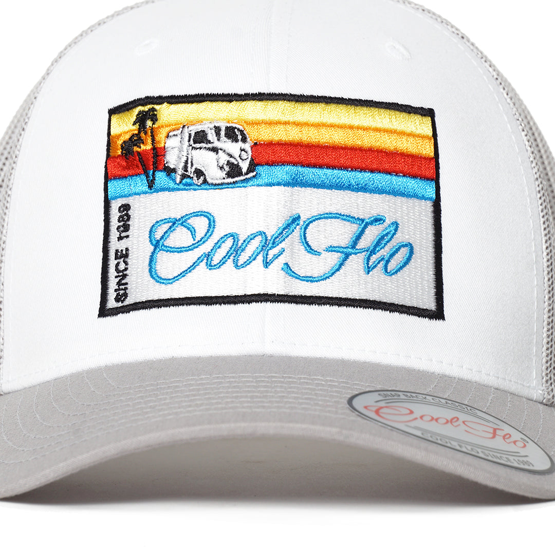 Summer Cruise Contrast Trucker Cap - Cool Flo