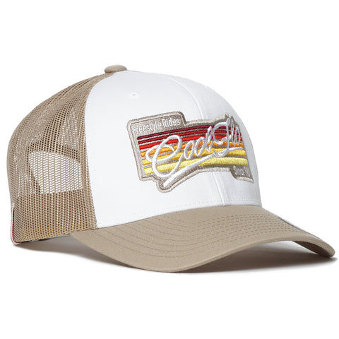 3D Script Grey Treading Waves Trucker Cap