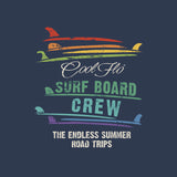 Surfboard Crew Navy T-shirt - Cool Flo