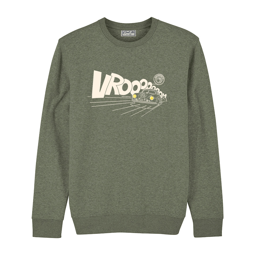 Gas Coffee - Porsche 356SL khaki sweatshirt