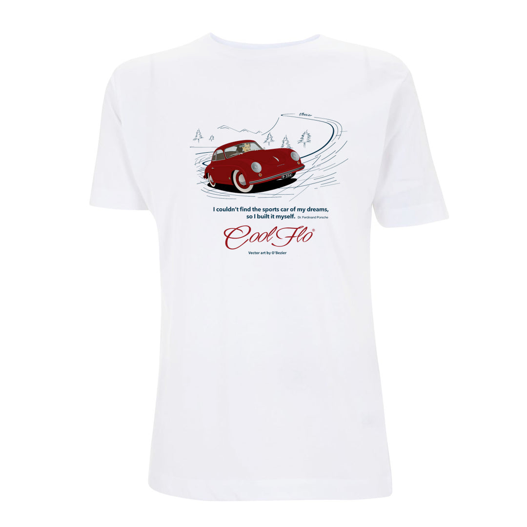 356 Porsche white t-shirt - Cool Flo