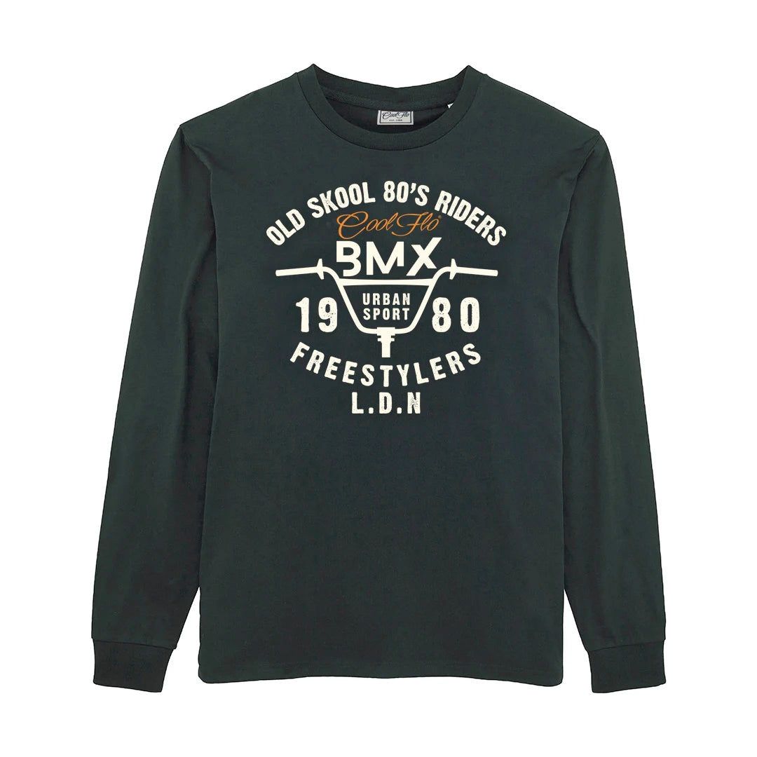 Cool Flo Urban Sport long sleeve t-shirt in black