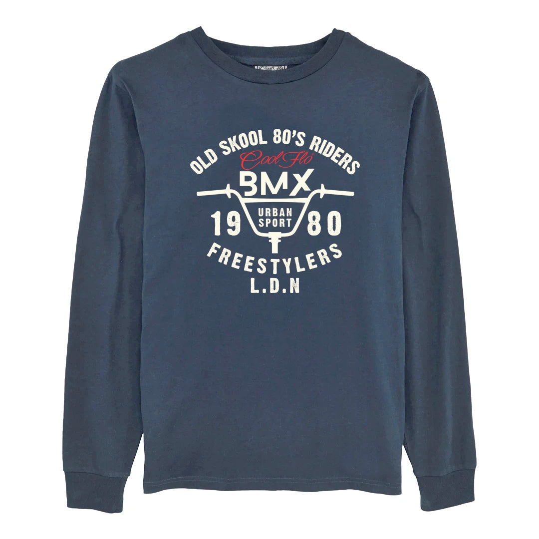 Cool Flo Urban Sport long sleeve t-shirt in Navy