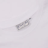 Aloha Outlaw White T-shirt neck label - Cool Flo